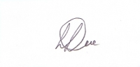 DOE, R.T.F. - Pencil Signature