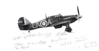 HURRICANE LK-A Multi-Signed by BATTLE OF BRITAIN Veterans.