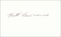 LAWRENCE, K.A. - Pencil Signature