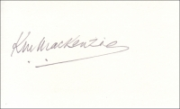 MACKENZIE, K.W. - Pencil Signature