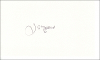 MILLARD, J. - Pencil Signature