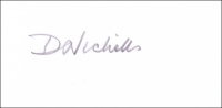 NICHOLLS, D.B.F. - Pencil Signature
