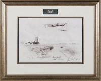 P-38 LIGHTNINGS OF THE 434TH (original pencil drawing)
