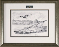 SUNDERLAND OVER THE ISLE OF SKYE (original pencil drawing)