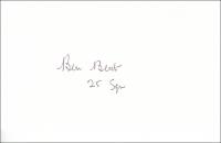 BENT, B. - Pencil Signature