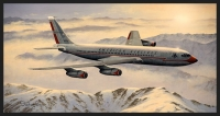 HEADING HOME - AMERICAN AIRLINES 707 - Ltd editions and Original Canvas painting