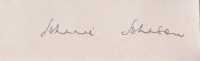 JOHNSON, J. - Pencil Signature - various options