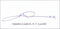 LEE, K.N.T. - Titled Signature - various options