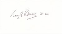 PICKERING, T.G. - Pencil Signature - various options