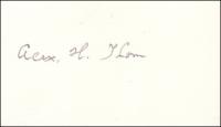 THOM, A.. - Pencil Signature