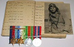 BATTLE OF BRITAIN GROUP OF FOUR MEDALS & LOGBOOK