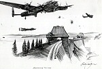 DAMBUSTERS  by Nicolas Trudgian -  Original Pencil Drawing