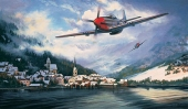 MUSTANGS OVER THE REICH - Original Oil on Canvas
