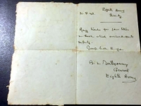 1943 GENERAL MONTGOMERY LETTER - signed