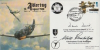 ADLERTAG BATTLE OF BRITAIN - Signed David + Steinhilper