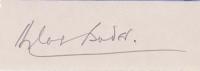 BADER, D. - Pencil Signature