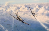 COMBAT OVER LONDON -Rare Secondary market print
