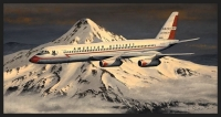 HEADING HOME - AMERICAN AIRLINES CONVAIR CV990 - Ltd editions and Original Canvas painting