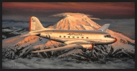 HEADING HOME - AMERICAN AIRLINES DC3 - Ltd editions and Original Canvas painting