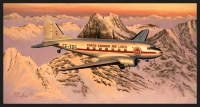 HEADING HOME - TRANS CANADA DC3 - Ltd editions and Original Canvas painting