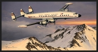 HEADING HOME - TWA SUPER CONSTELLATION - Ltd editions and Original Canvas painting