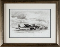 MOSQUITO'S OF 692 SQUADRON (Original Pencil Drawing)