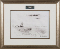 P-38 LIGHTNINGS OF THE 434TH (original pencil drawing)