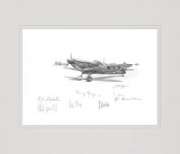SPITFIRE SORTIE by Nicolas Trudgian (Original Pencil Drawing signed by Battle of Britain pilots)