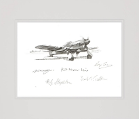 TANK-BUSTER by Nicolas Trudgian (Original Pencil Drawing signed by RAF pilots)