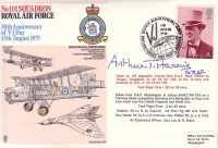 1975 RAF COVER - Signed by Sir Arthur Harris