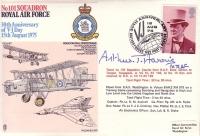 1975 RAF COVER - Signed by Sir Arthur Harris