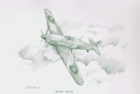 ALONE AGAIN - Original Pencil Drawing
