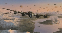 ATTACK ON THE TIRPITZ by Philip West (Original Painting)