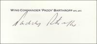 BARTHROPP P. - Titled Signature