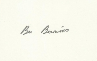BENNIONS, G. - Pencil Signature