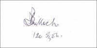 BULLOCH, T - Ink Signature