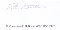BROTHERS, P.M. - Titled Signature