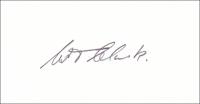 CLARK, W. T. - Pencil Signature