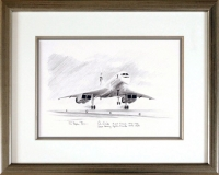 CONCORDE TAKE-OFF (Original Pencil Drawing)