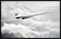 CONCORDE - LEGEND OF THE SKIES - Original Drawing
