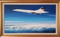 CONCORDE - SUPERSONIC THOROUGHBRED (Original Oil On Canvas)