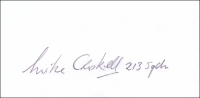 CROSKELL, M. E. - Pencil Signature