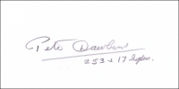 DAWBARN, P. L. - Pencil Signature