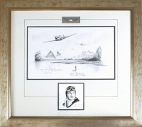 FLYING TIGERS by Stephen Brown (Original Pencil Drawing)