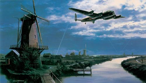 Limited edition fine art print signed by RAF Dambuster veterans