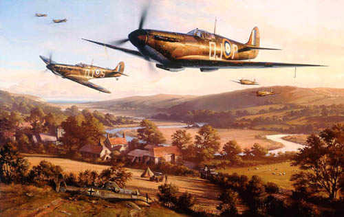 Limited edition fine art print signed by RAF Battle of Britain veterans